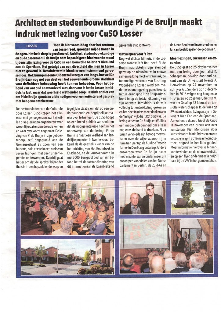 20151007 Verslag in De week van Losser
